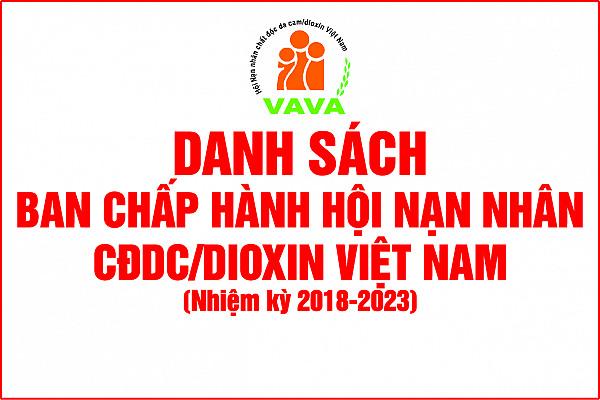 Danh sách Ban Chấp hành Hội NNCĐDC/dioxin VIệt Nam, Khóa IV, nhiệm kỳ 2018 - 2023