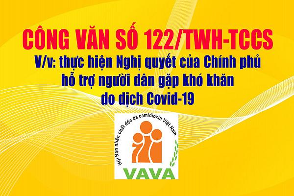 Công văn số 112/TWH-TCCS: Về việc thực hiện Nghị quyết của Chính phủ hỗ trợ người dân gặp khó khăn do dịch Covid-19