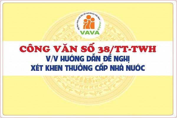 Công văn số 38/TT-TWH về việc hướng dẫn đề nghị xét khen thưởng cấp Nhà nước