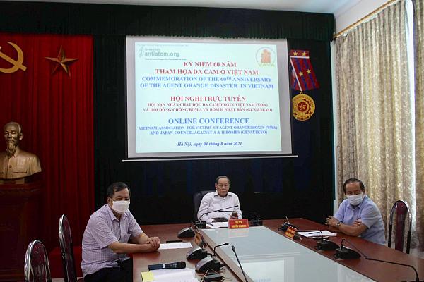 Hội nghị trực tuyến giữa Hội Nạn nhân chất độc da cam/dioxin Việt Nam (VAVA) và Hội đồng Chống bom A & bom H Nhật Bản (Gensuikyo)