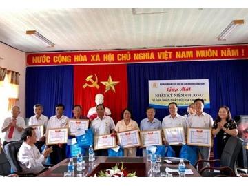 """Quảng Nam trao tặng kỷ niệm chương """"Vì nạn nhân chất độc da cam"""""""