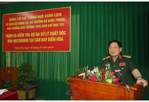 Tháng 4/2019 sẽ bắt đầu xử lý triệt để dioxin tại sân bay Biên Hòa