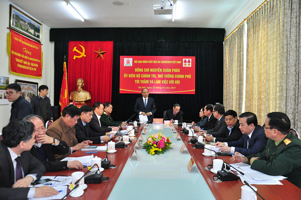 Tổng thuật: Thủ tướng Nguyễn Xuân Phúc thăm và làm việc với Hội Nạn nhân chất độc da cam/dioxin Việt Nam
