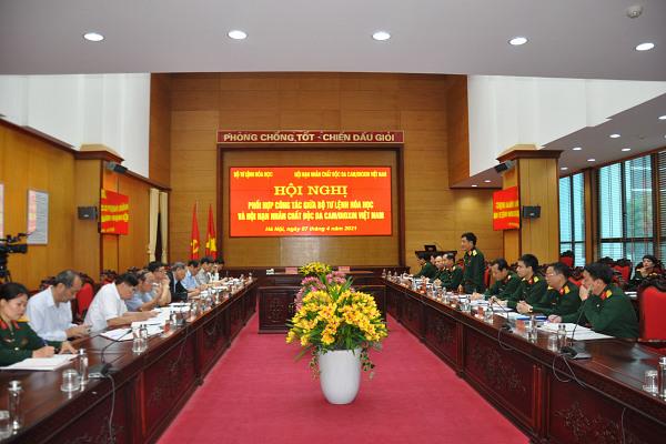 Hội nghị phối hợp hoạt động giữa Hội NNCĐDC/dioxin Việt Nam và Bộ Tư lệnh Hóa học